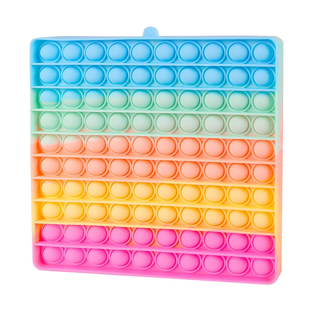 Jucarie antistres Pop It Now, Patrat, Multicolor