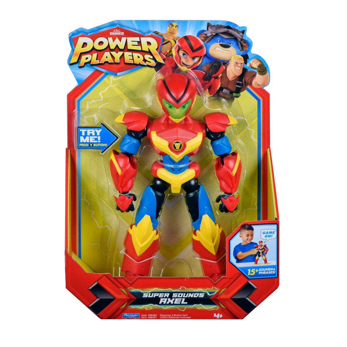 Figurina interactiva Power Players Super Sounds, Axel 38401