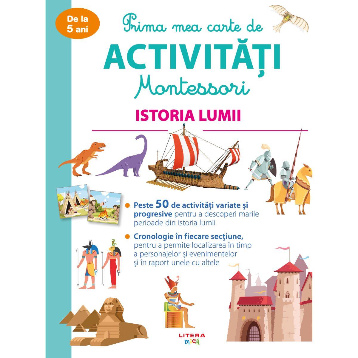 Prima mea carte de activitati Montessori, Istoria lumii