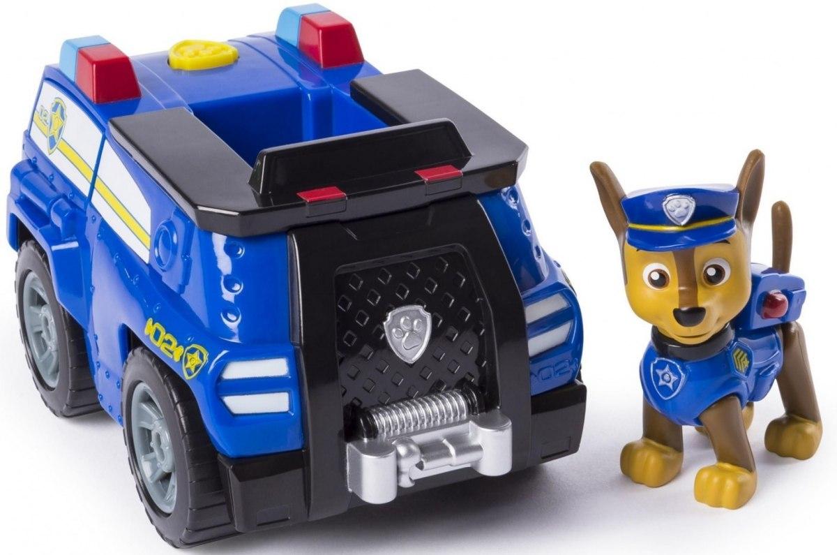 Figurina si autovehicul Paw Patrol, Chase si crucisatorul de politie