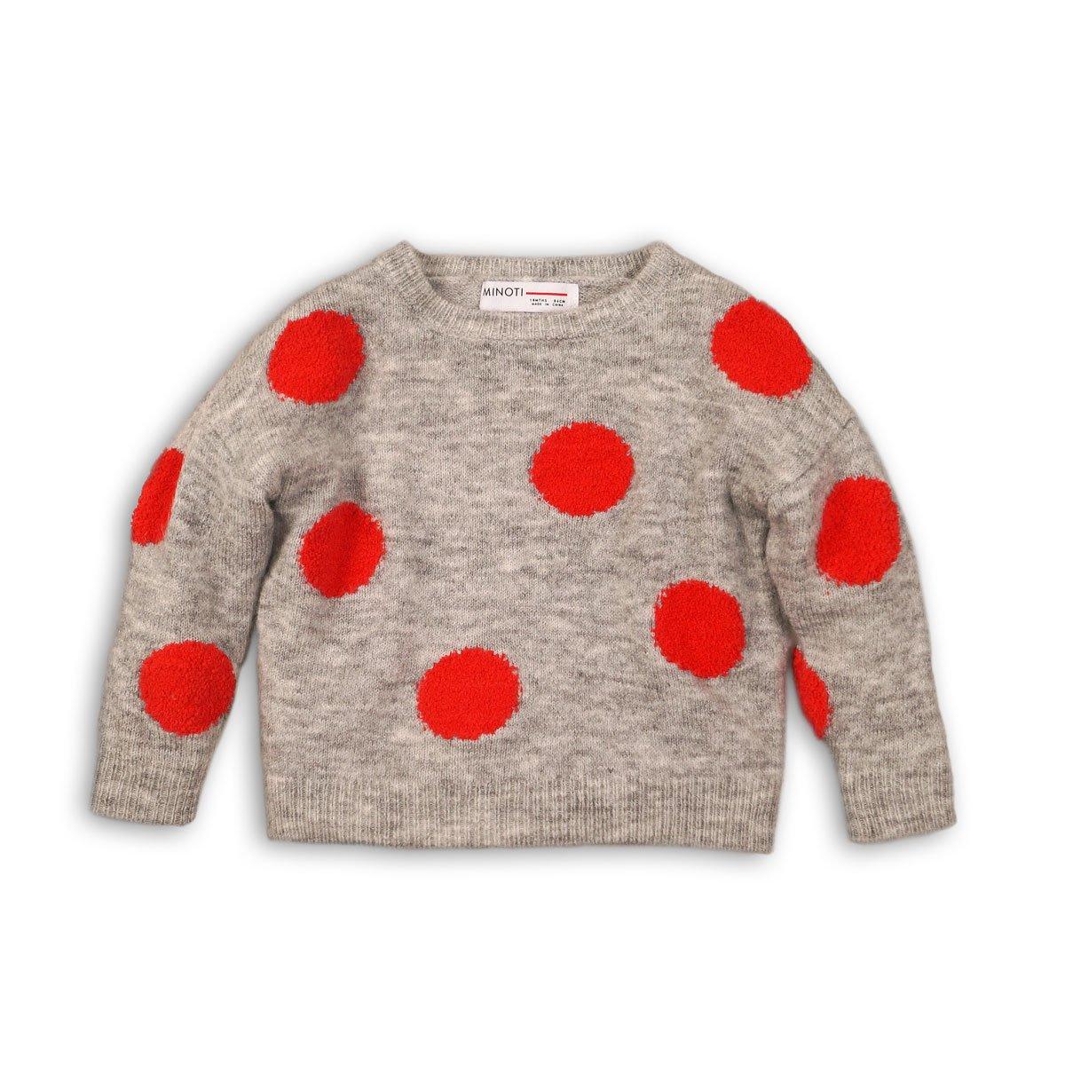 Pulover tricotat cu buline Minoti Gang M318C004