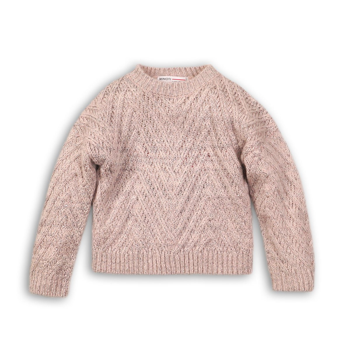 Pulover tricotat tesatura lurex si paiete Minoti