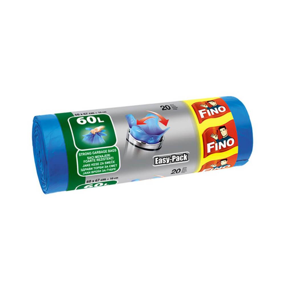 Saci pentru gunoi Fino Easy-Pack, 60l, 20buc