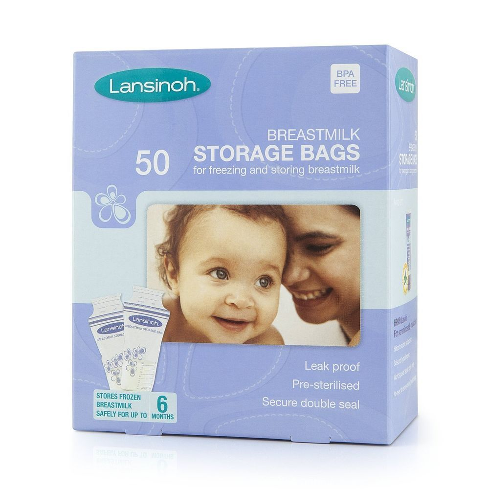pungi de stocare a laptelui matern lansinoh, 50 buc