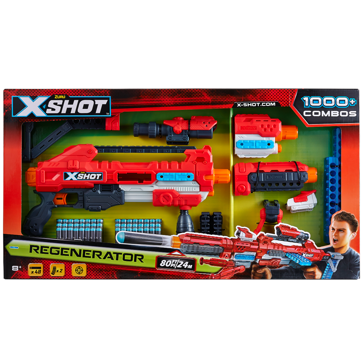 Pusca cu gloante X-Shot Excel Clip Blaster Regenerator