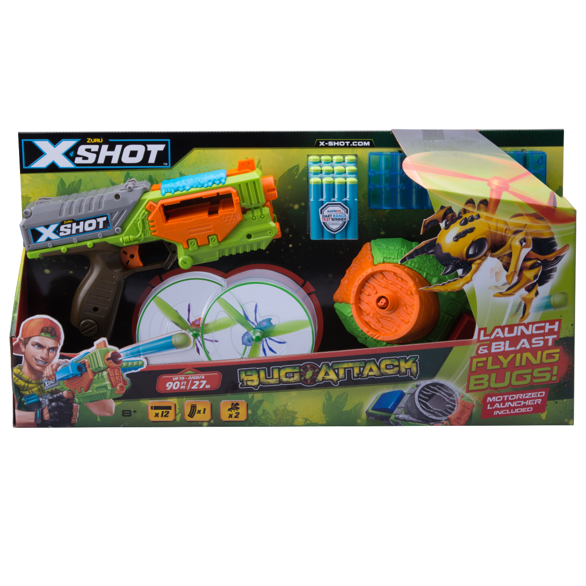 Blaster X-Shot Flying Bug Attack Swarm Seeker