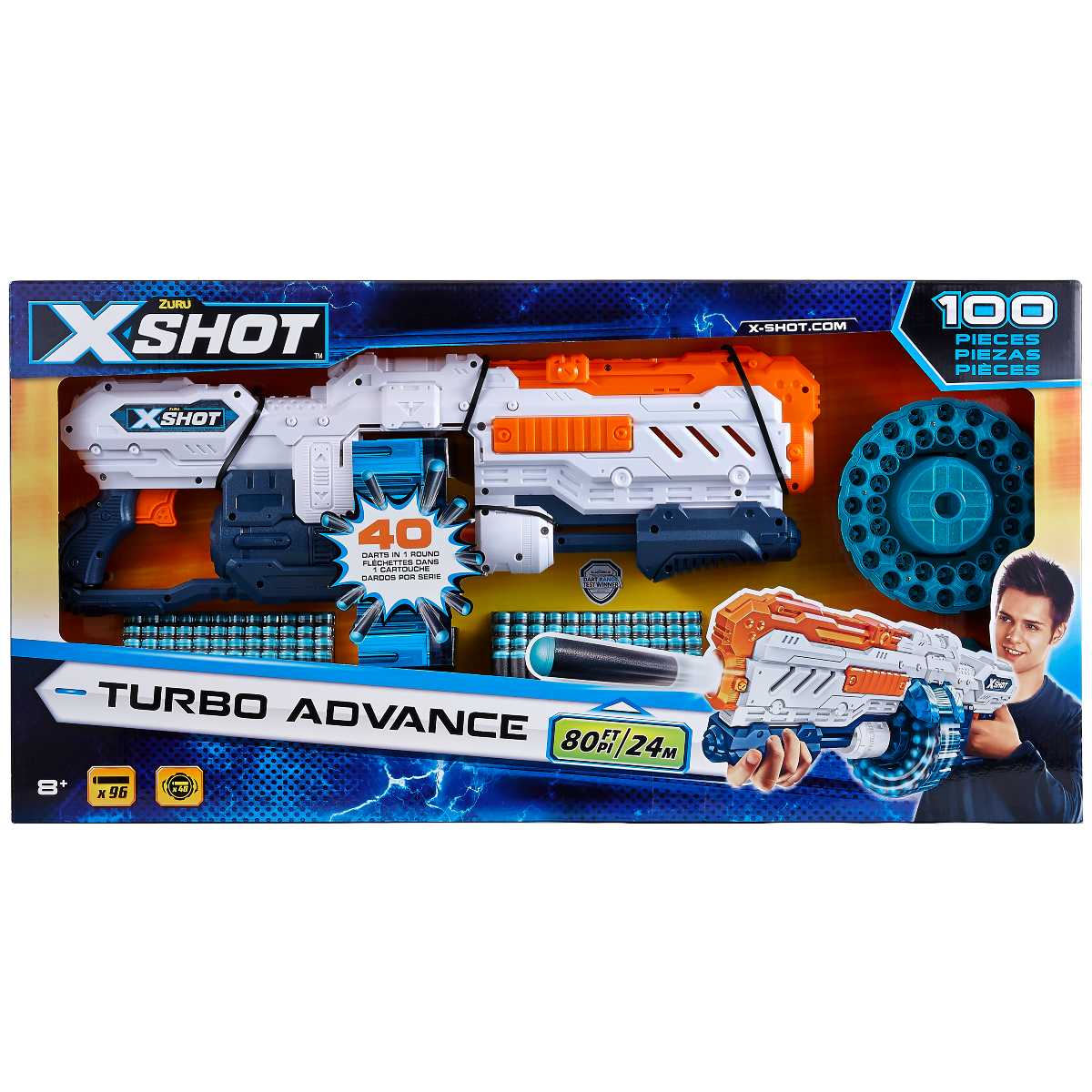 Set pusca si gloante X-Shot Excel Turbo Advance