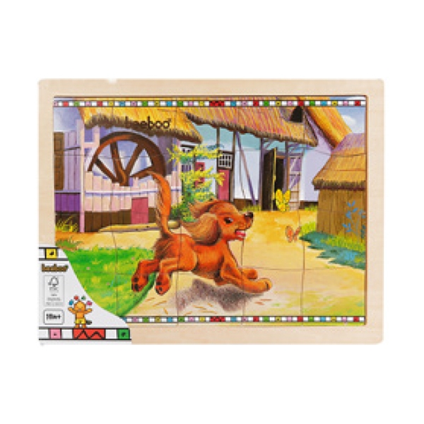 puzzle din lemn beeboo - caine