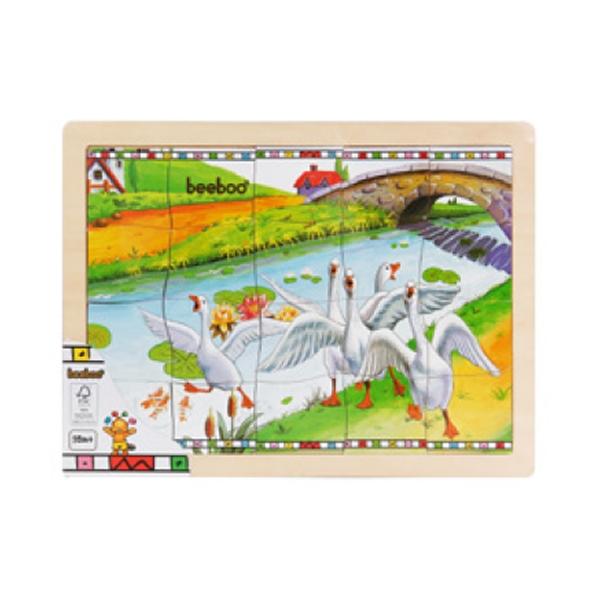 puzzle din lemn beeboo - gaste