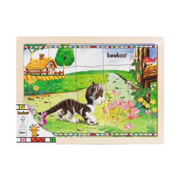 puzzle din lemn beeboo - pisica