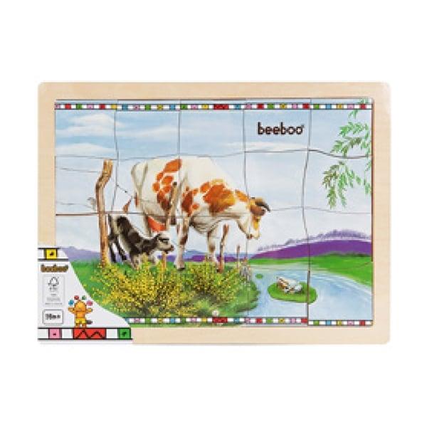 puzzle din lemn beeboo - vacuta