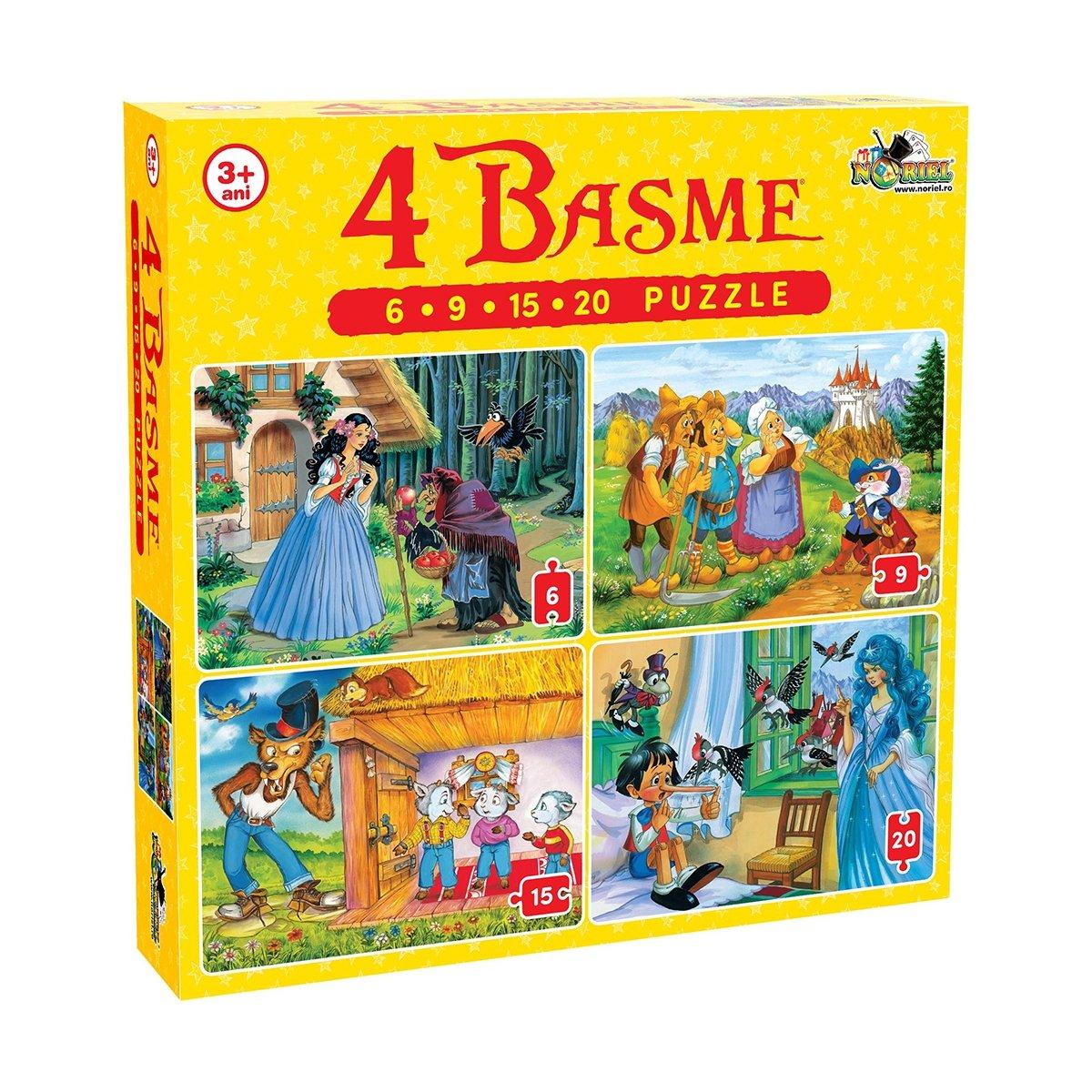puzzle noriel - 4 basme (6, 9, 15, 20 piese)