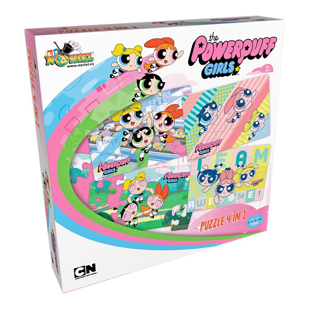 puzzle noriel 4 in 1 - powerpuff girls (6, 9, 15, 20 piese)