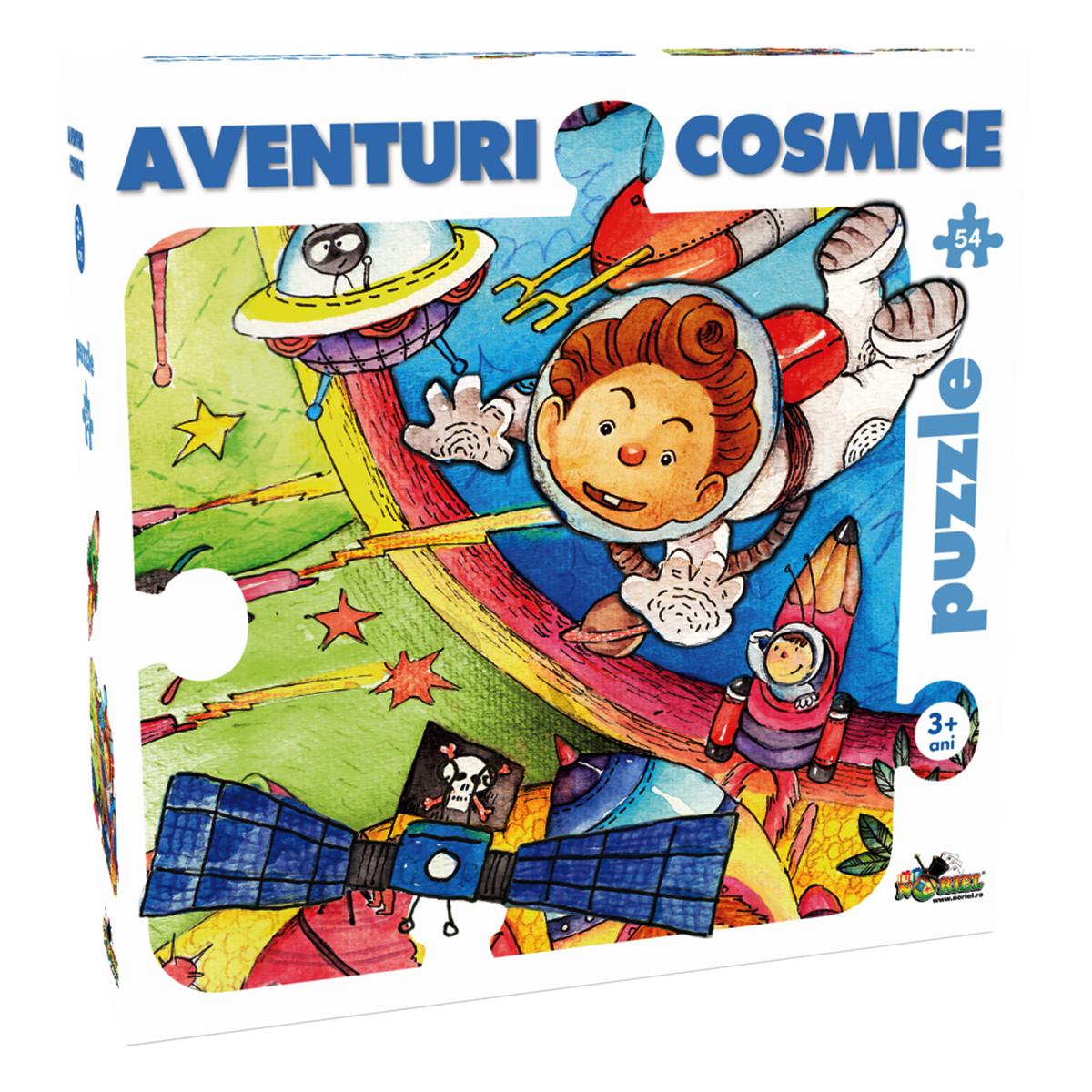 puzzle noriel - aventuri cosmice, 54 piese