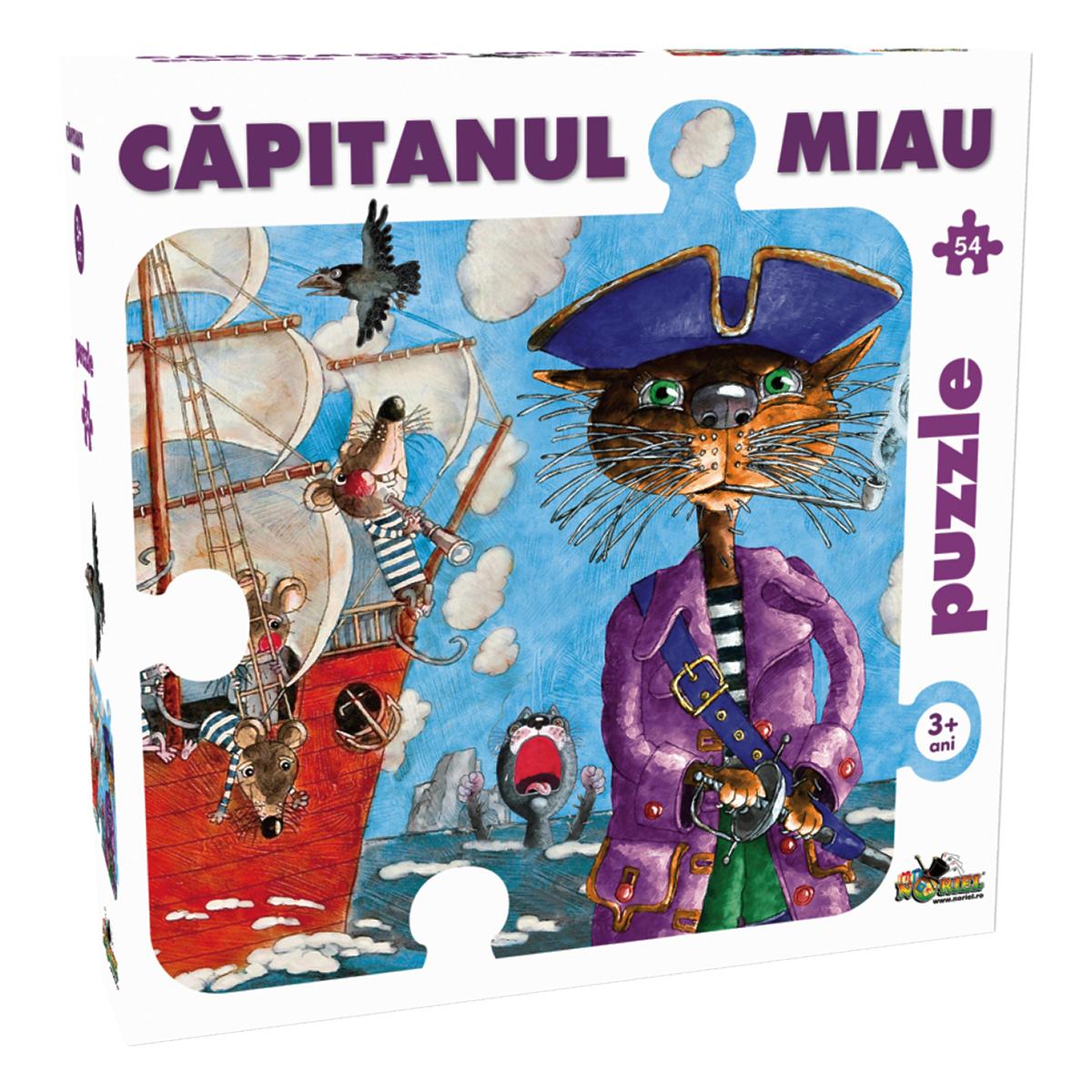 puzzle noriel - capitanul miau (54 piese)