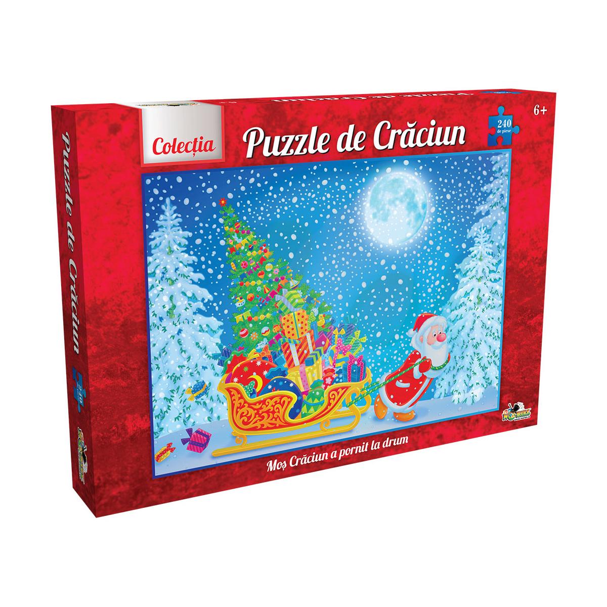puzzle noriel colectia de craciun - mos craciun a pornit la drum, 240 piese
