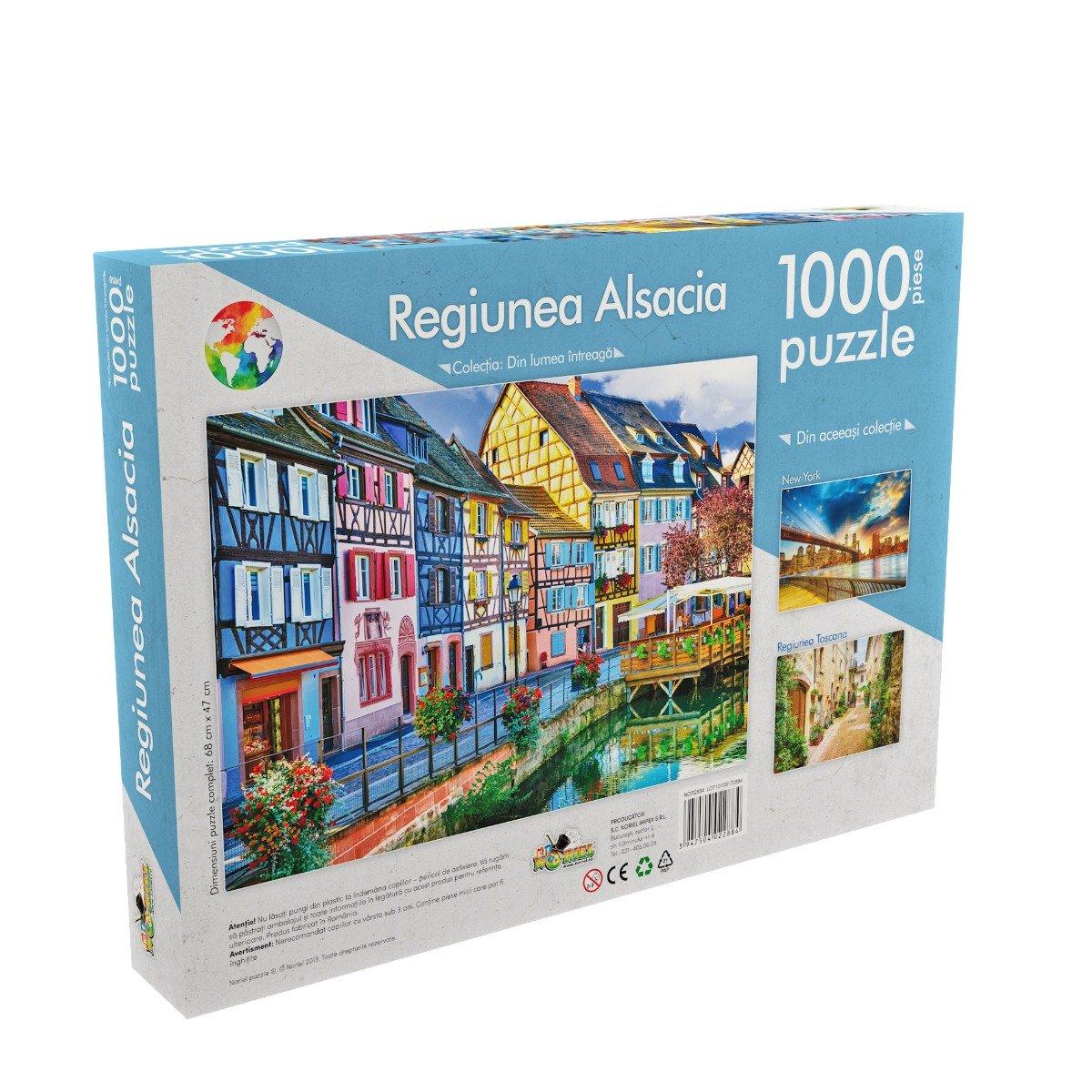 puzzle noriel din lumea intreaga - regiunea alsacia (1000 piese)