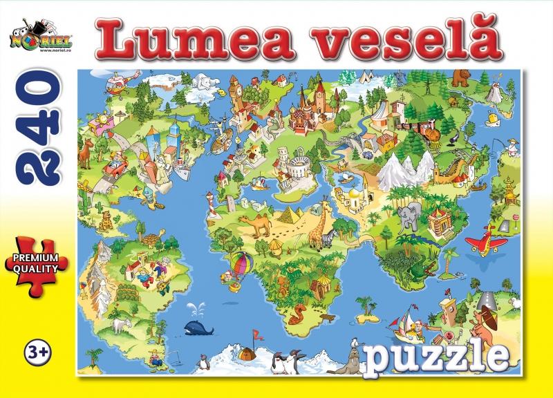 puzzle noriel lumea vesela, 240 piese