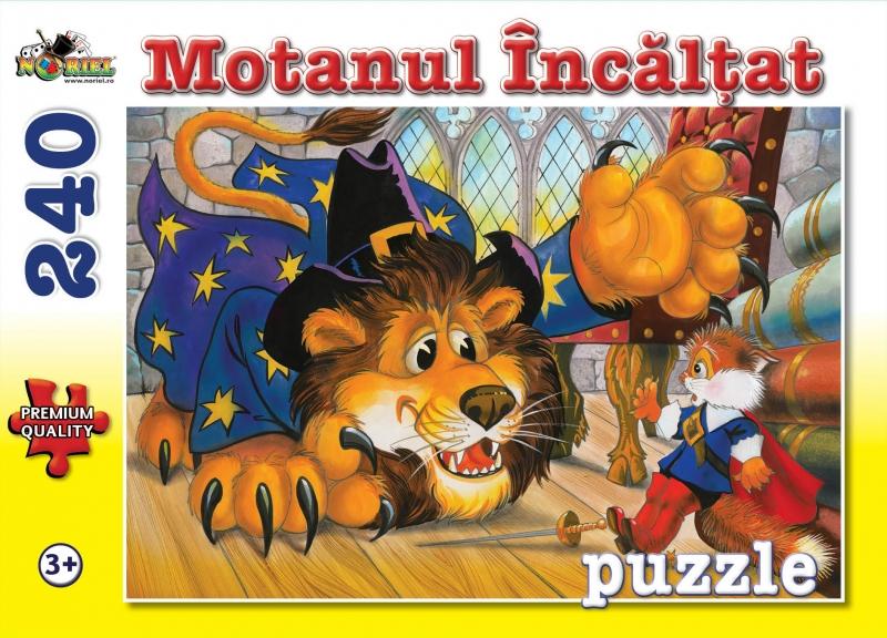 puzzle noriel - motanul incaltat, 240 piese