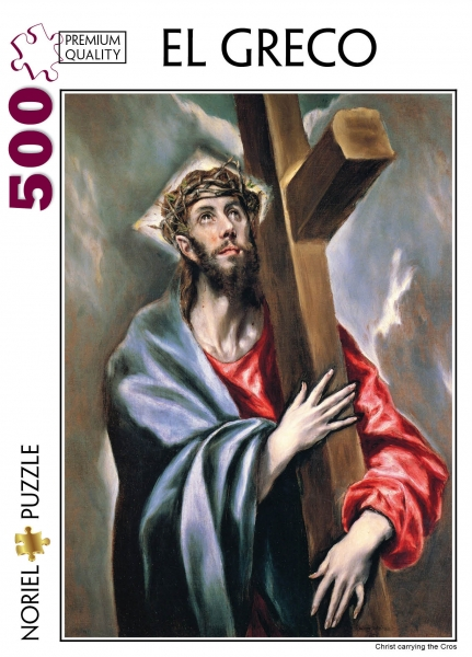 puzzle noriel pictura clasica - el greco, iisus carand crucea, 500 piese