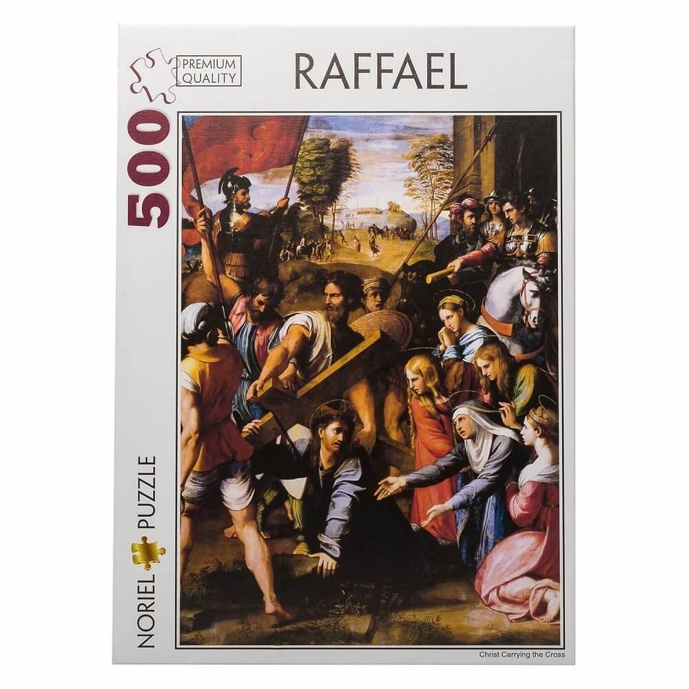 puzzle noriel pictura clasica - raffael, hristos carand crucea, 500 piese