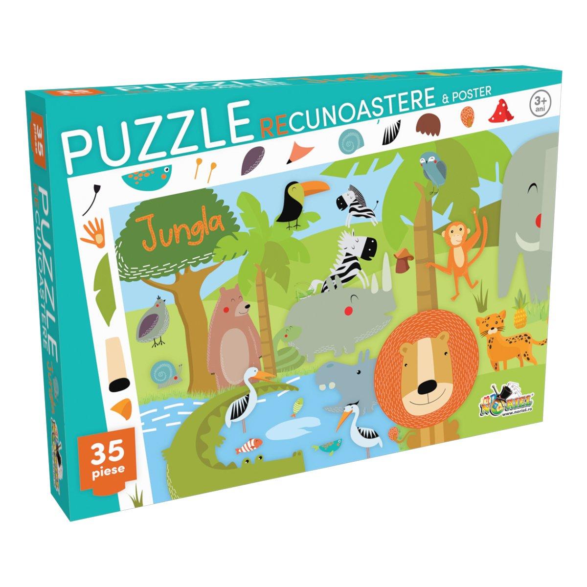 puzzle noriel - recunoastere jungla (35 piese)
