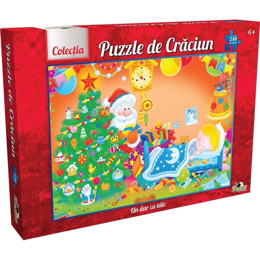 puzzle noriel un dar cu talc, colectia de craciun, 240 piese