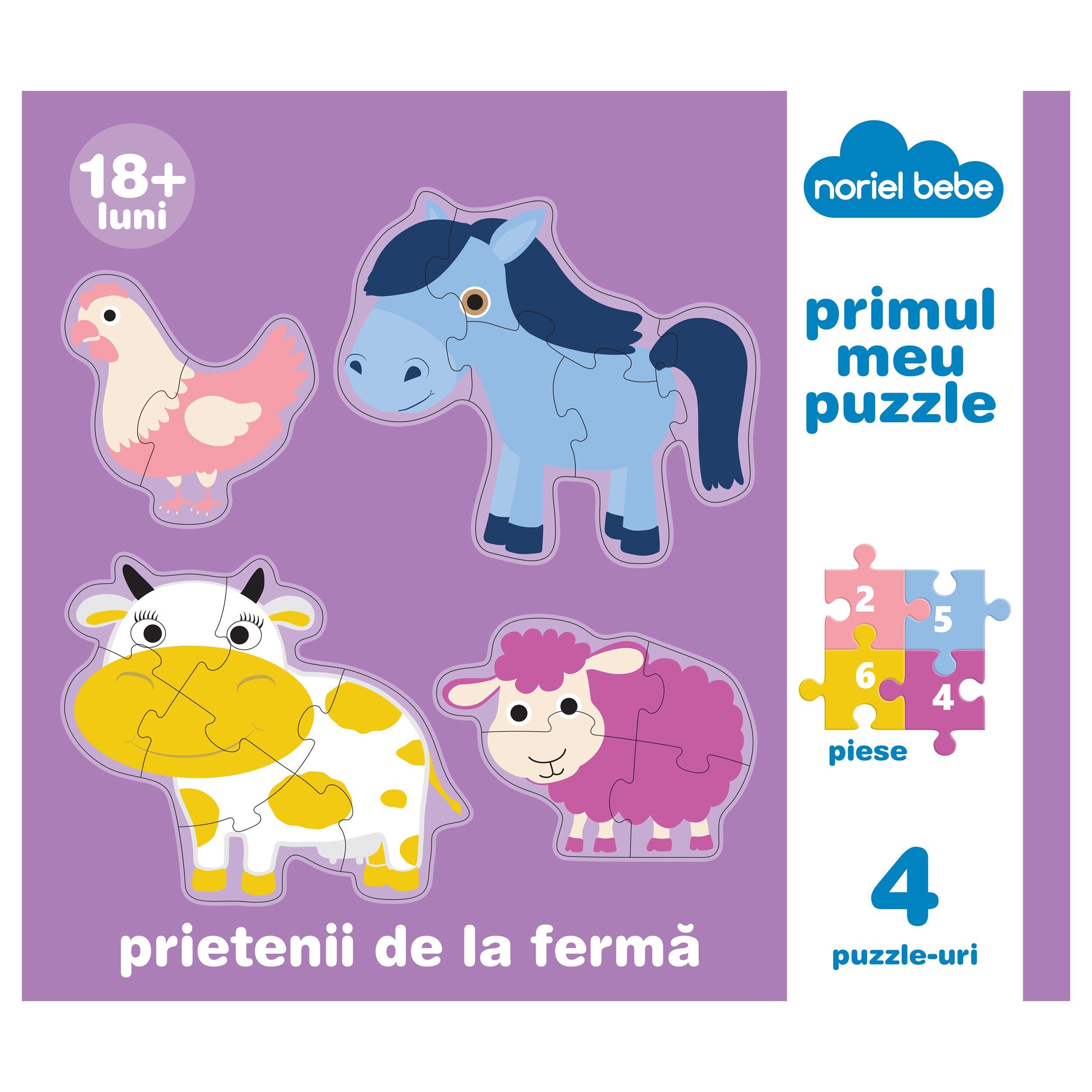 puzzle premium noriel bebe - prietenii mei de la ferma