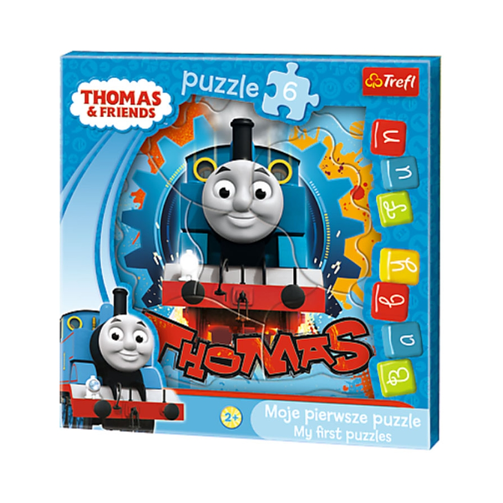 puzzle trefl baby fun thomas si prietenii sai, 6 piese