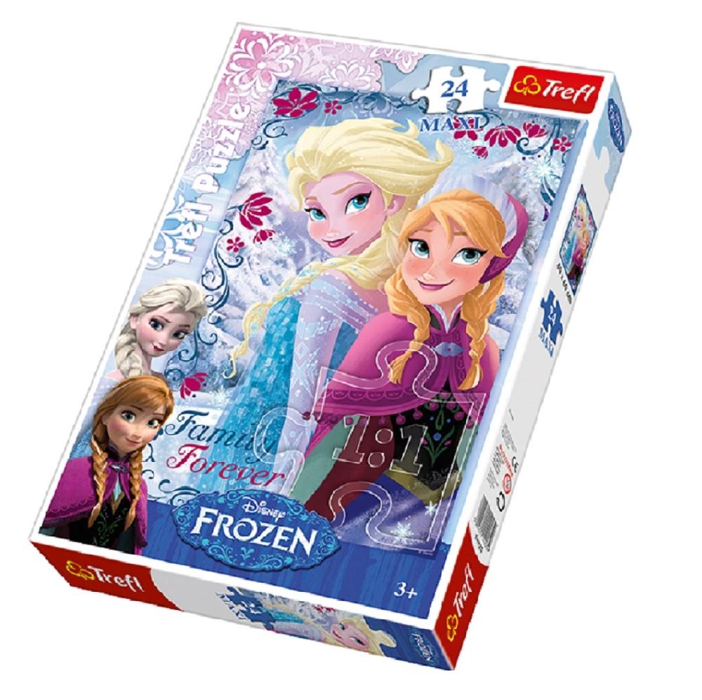 puzzle trefl disney frozen - sisters, 24 piese