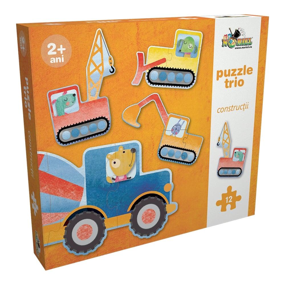 puzzle trio noriel - constructii, 12 piese