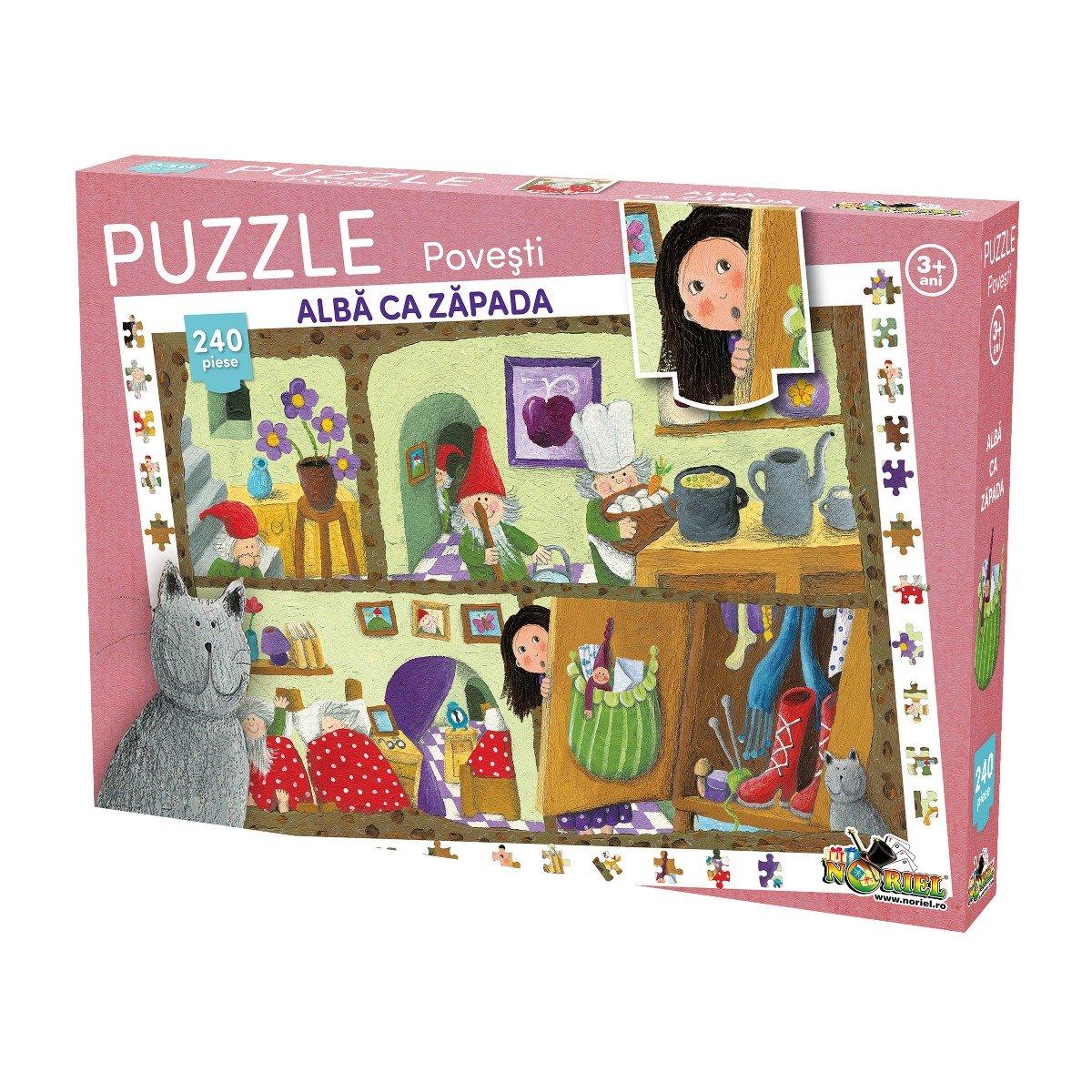 Puzzle Noriel cu povesti 240 de piese - Alba ca Zapada