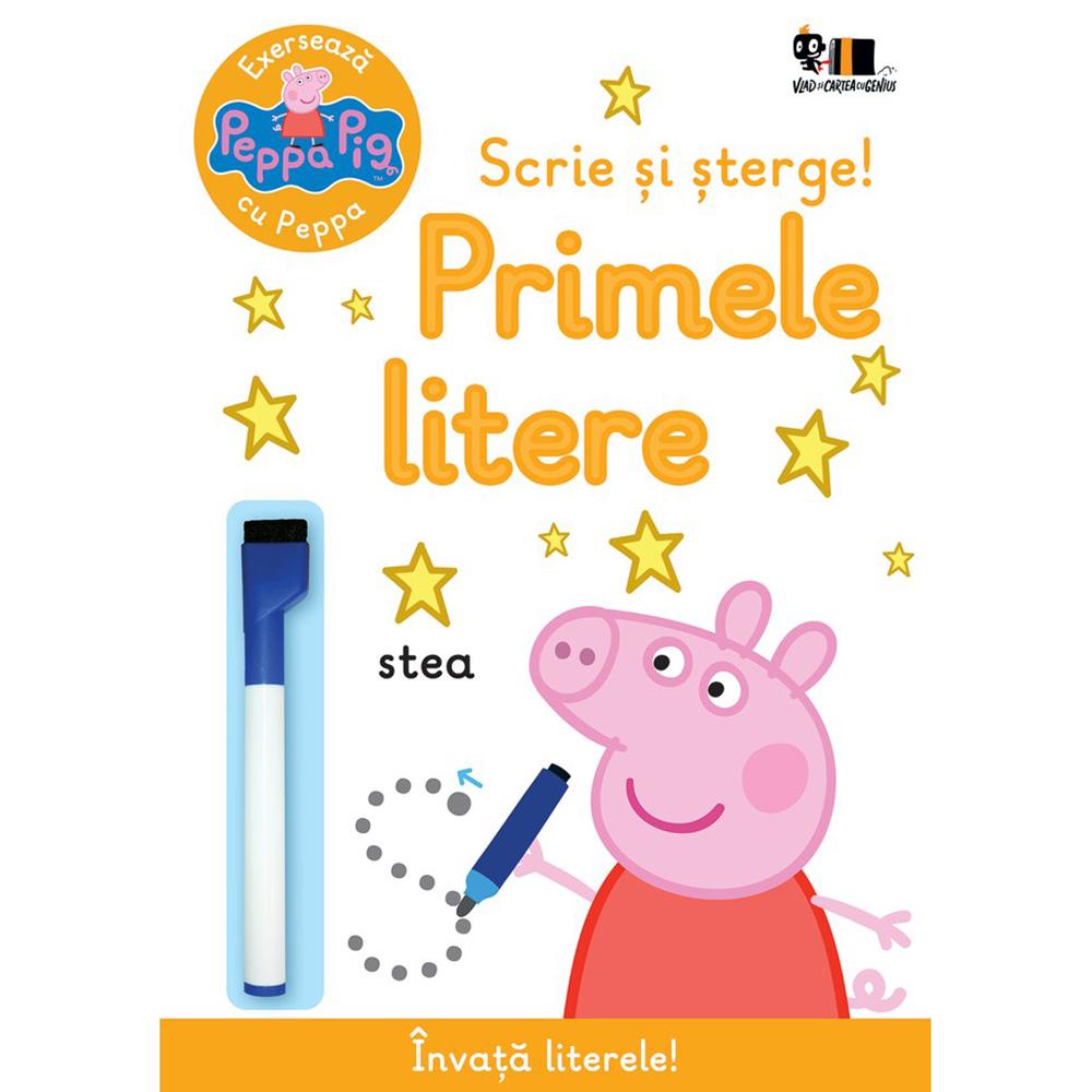 Exerseaza cu Peppa Pig, Scrie si sterge primele litere