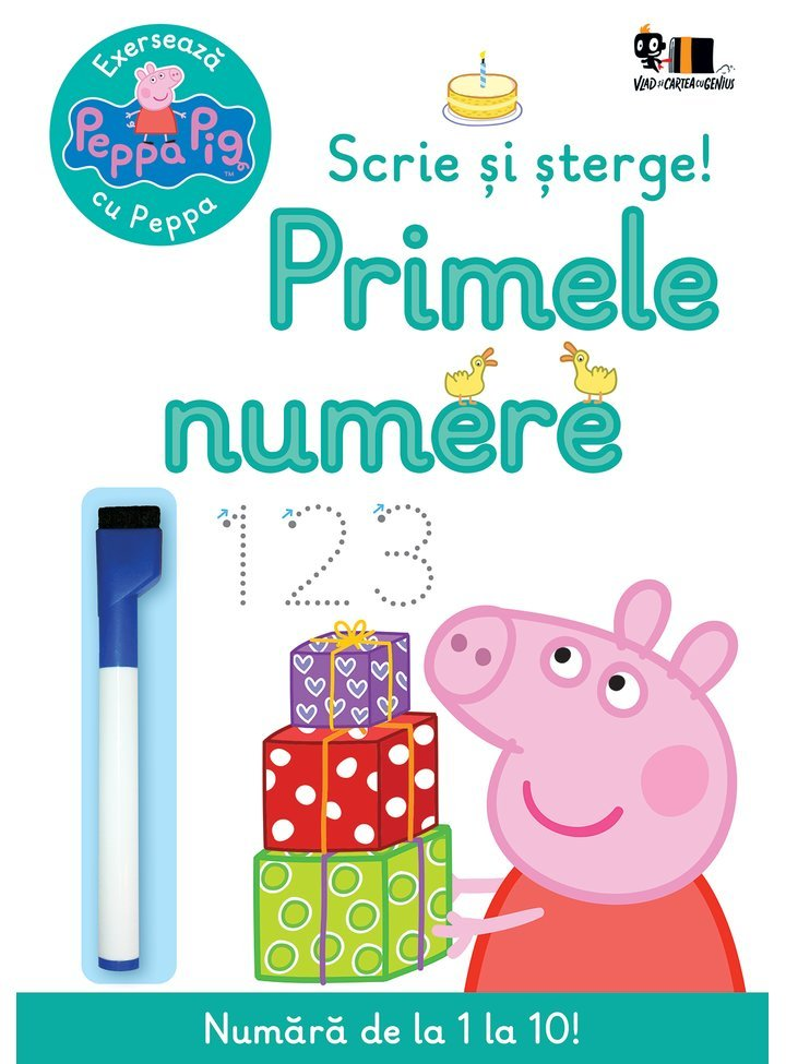 Exerseaza cu Peppa Pig, Scrie si sterge primele numere