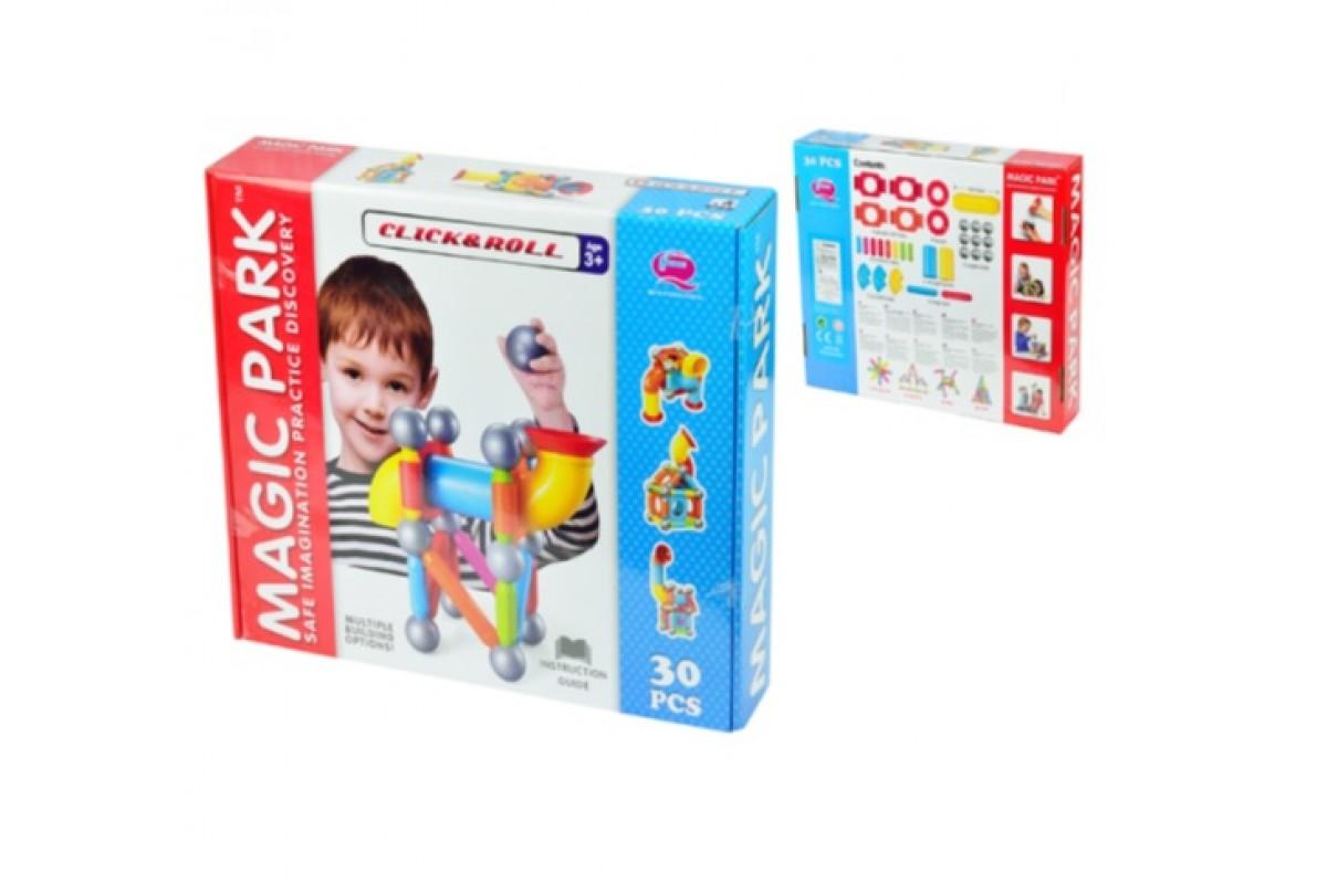 Joc de constructie magnetic Magic Park, 30 piese QF8110E