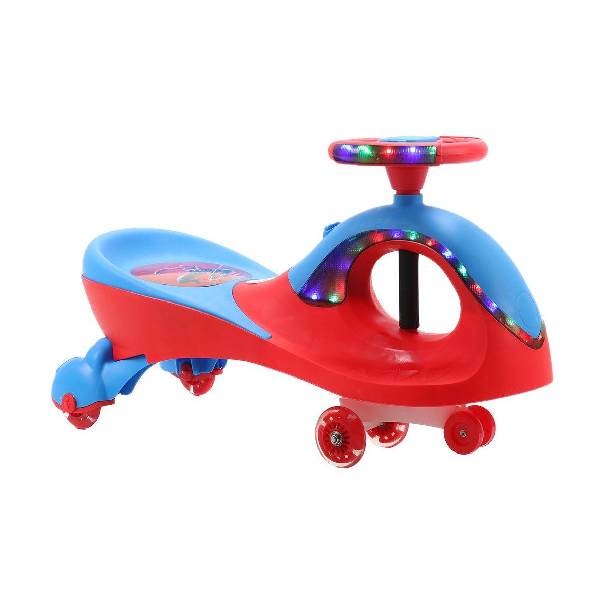 Masinuta fara pedale cu lumini si sunete Qitong Swing Car, Rosu imagine
