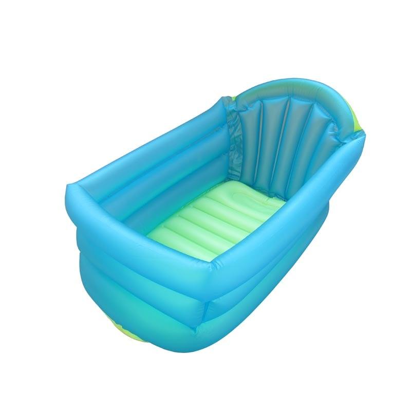 Cadita gonflabila de baie pentru bebelus Primii Pasi, Albastru