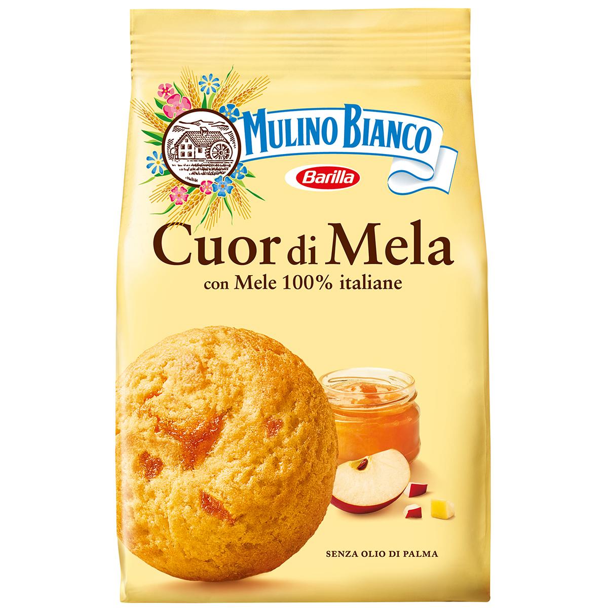 Biscuiti cu gem de mere Cour di mela Mulino Bianco, 250 g imagine