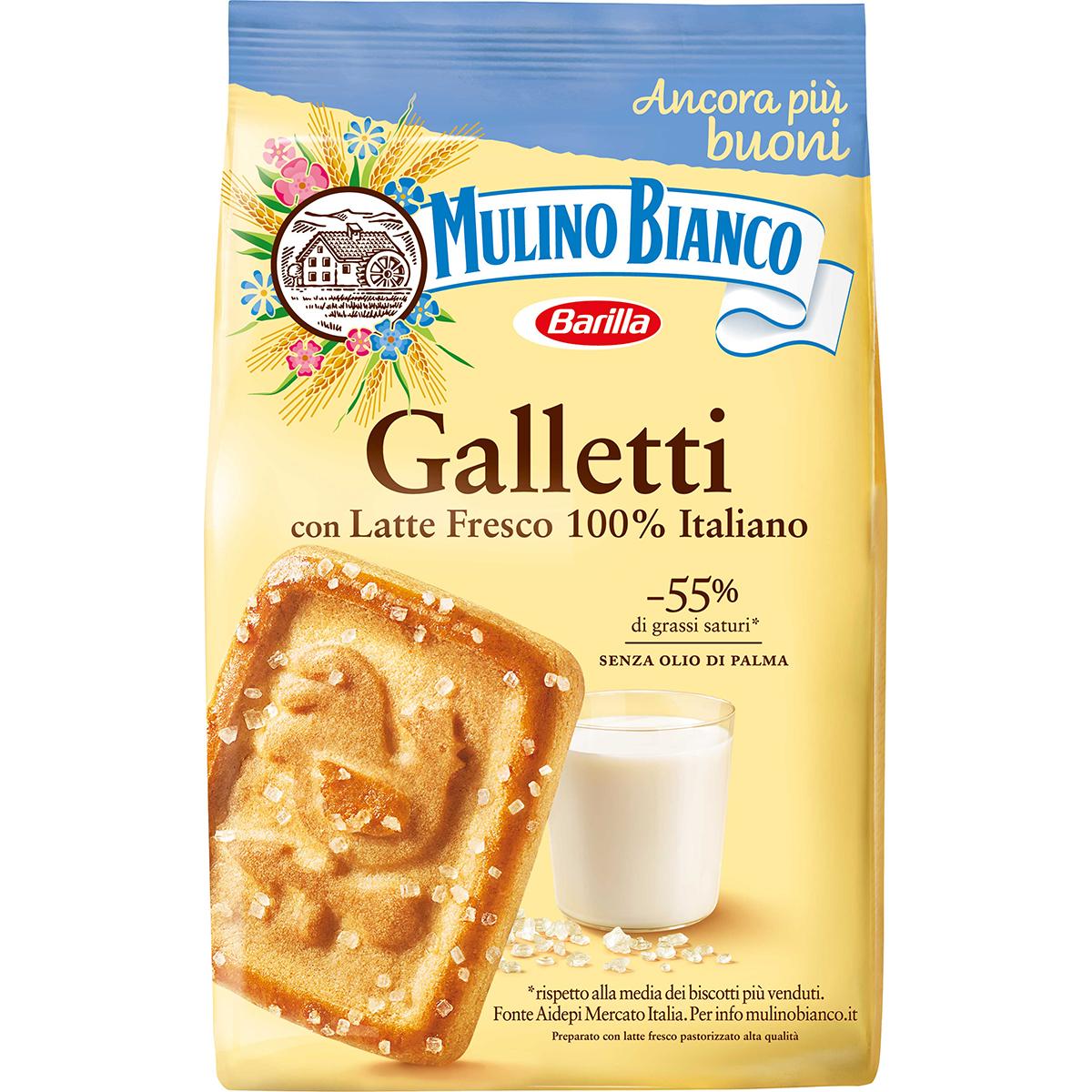 Biscuiti Galletti cu lapte Mulino Bianco, 350 g imagine