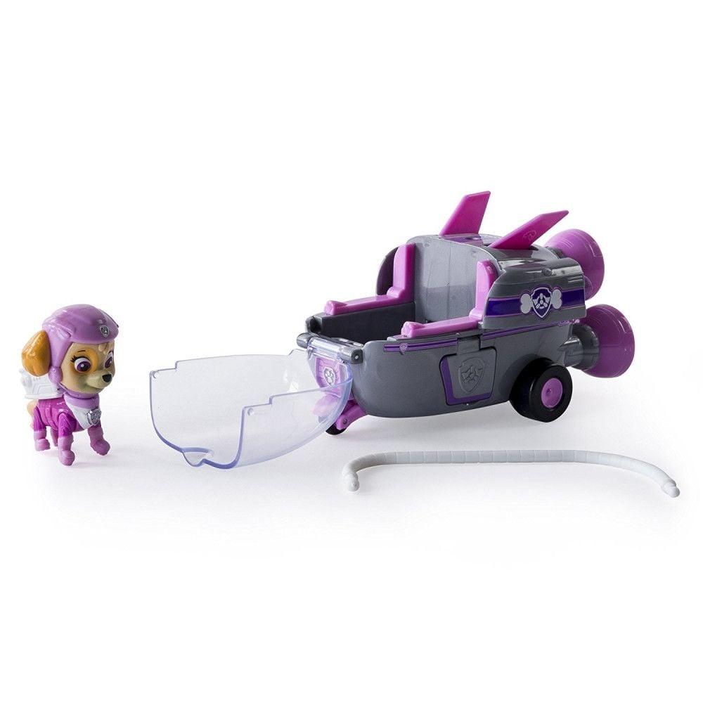 Figurina cu autovehicul Paw Patrol, Skye cu racheta