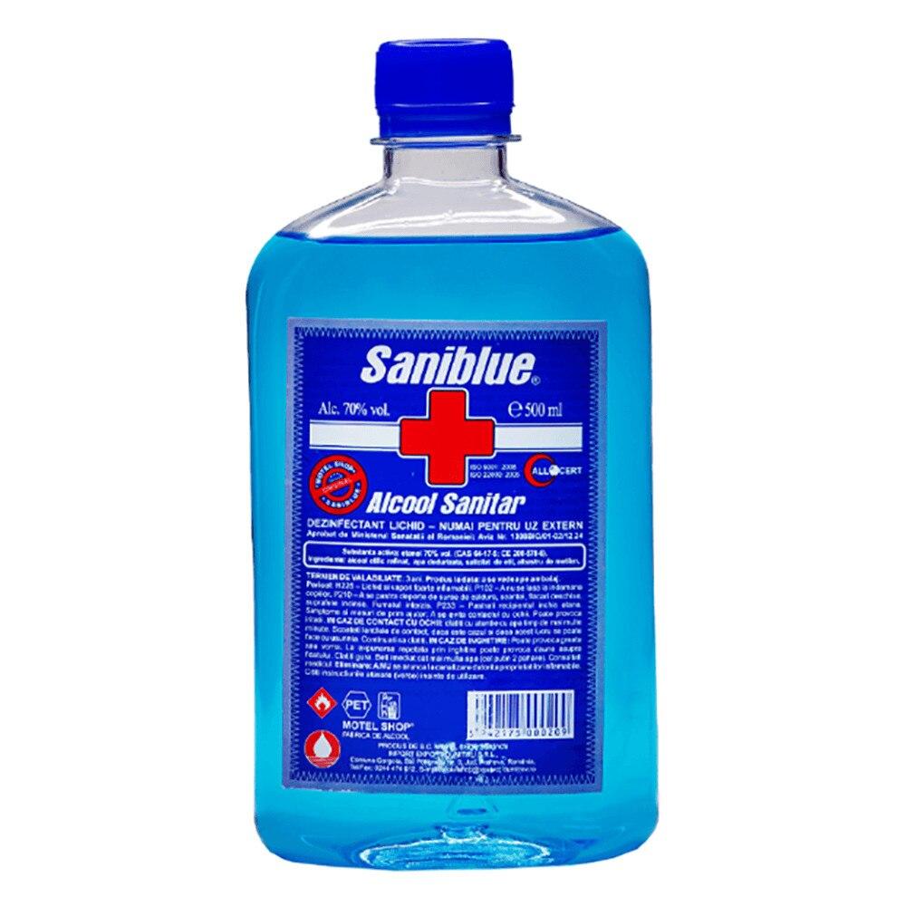 Alcool sanitar 70% Saniblue, 500ml imagine