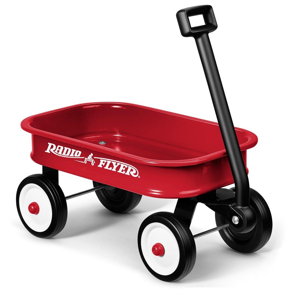 Carucior de tractat Radio Flyer Little Wagon, Rosu imagine