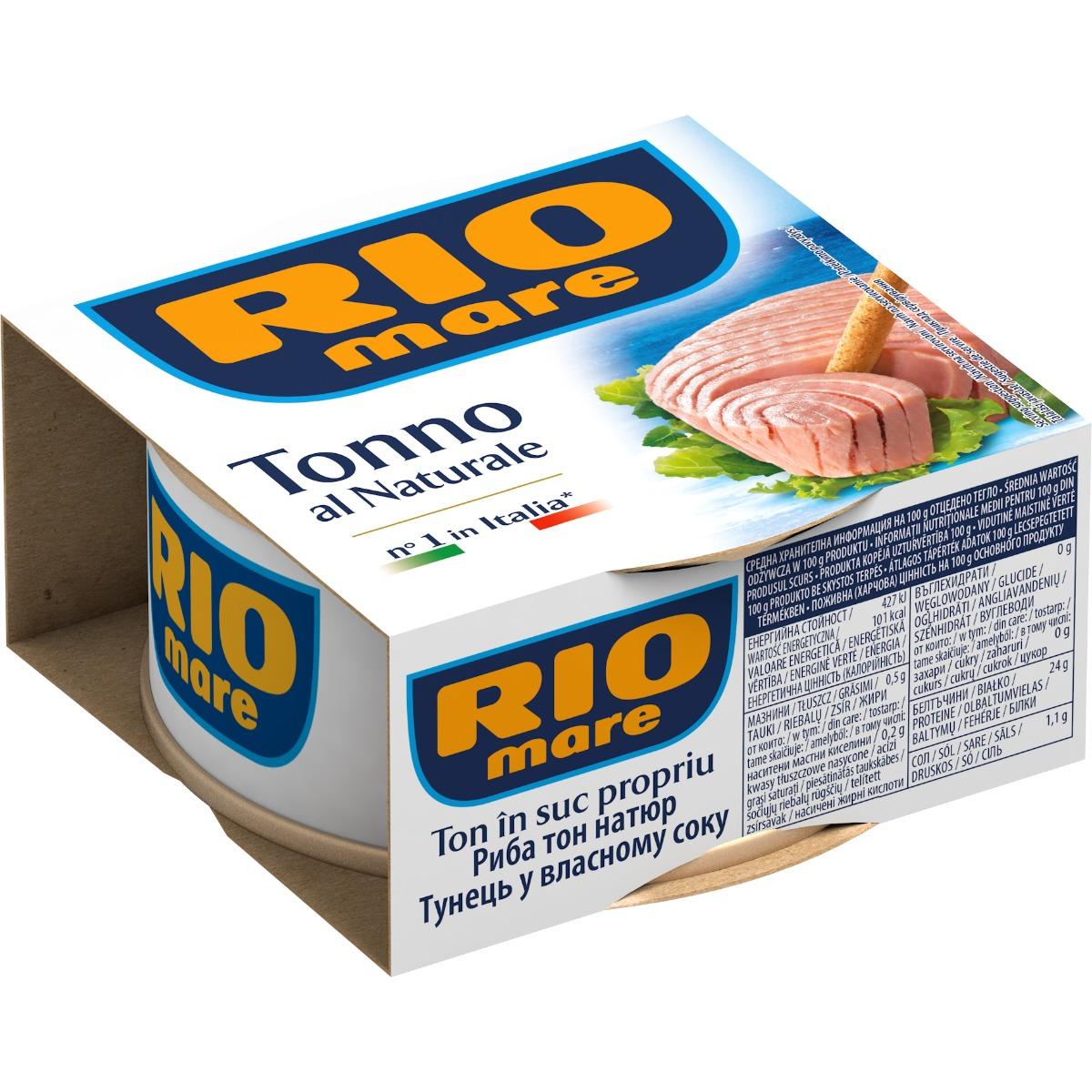 Ton in suc natural Rio Mare, 160 g imagine