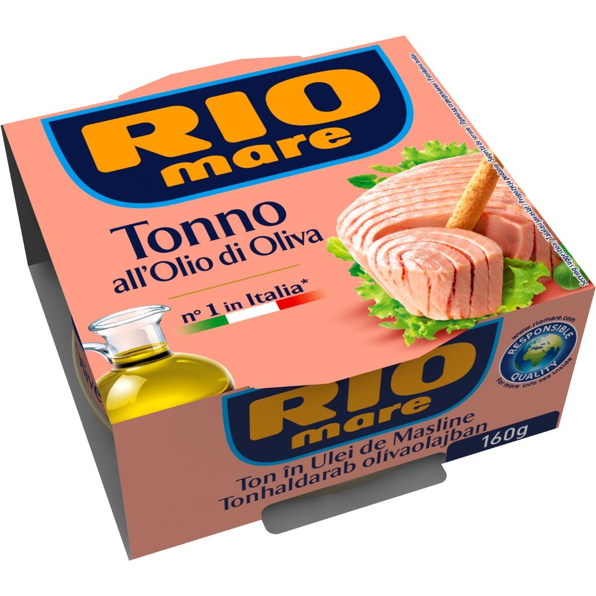 Ton in ulei de masline Rio Mare, 160 g imagine