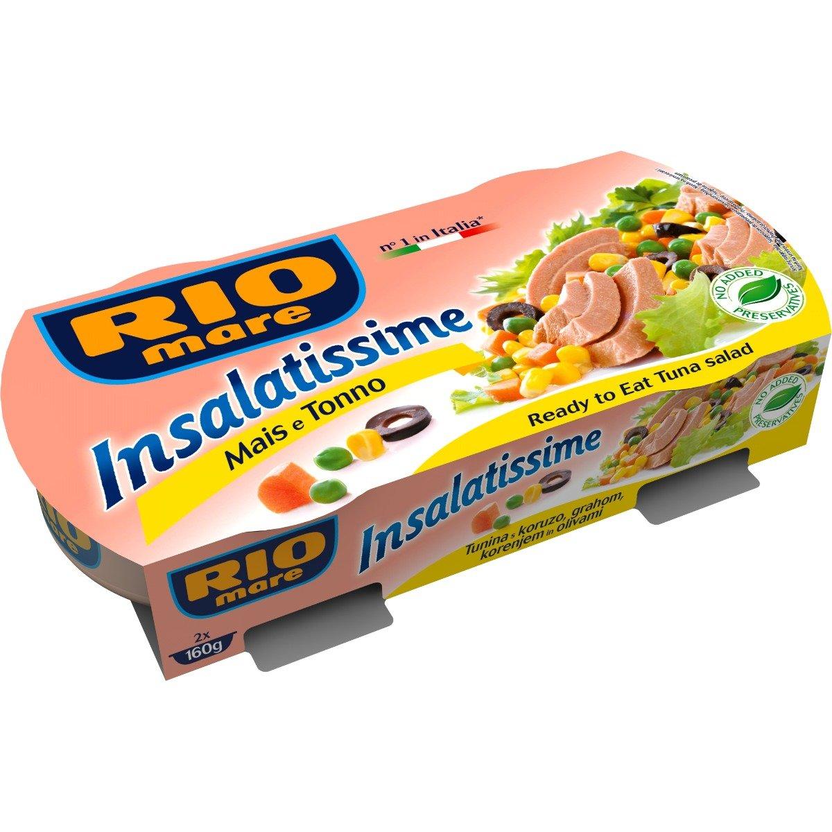 Salata de ton cu porumb Rio Mare, 2 conserve x 160 g imagine 2021