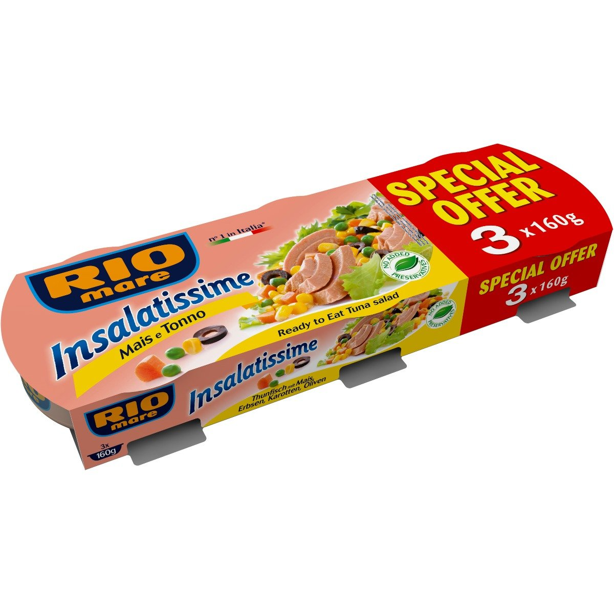 Salata de ton cu porumb Rio Mare, 3 conserve x 160 g imagine