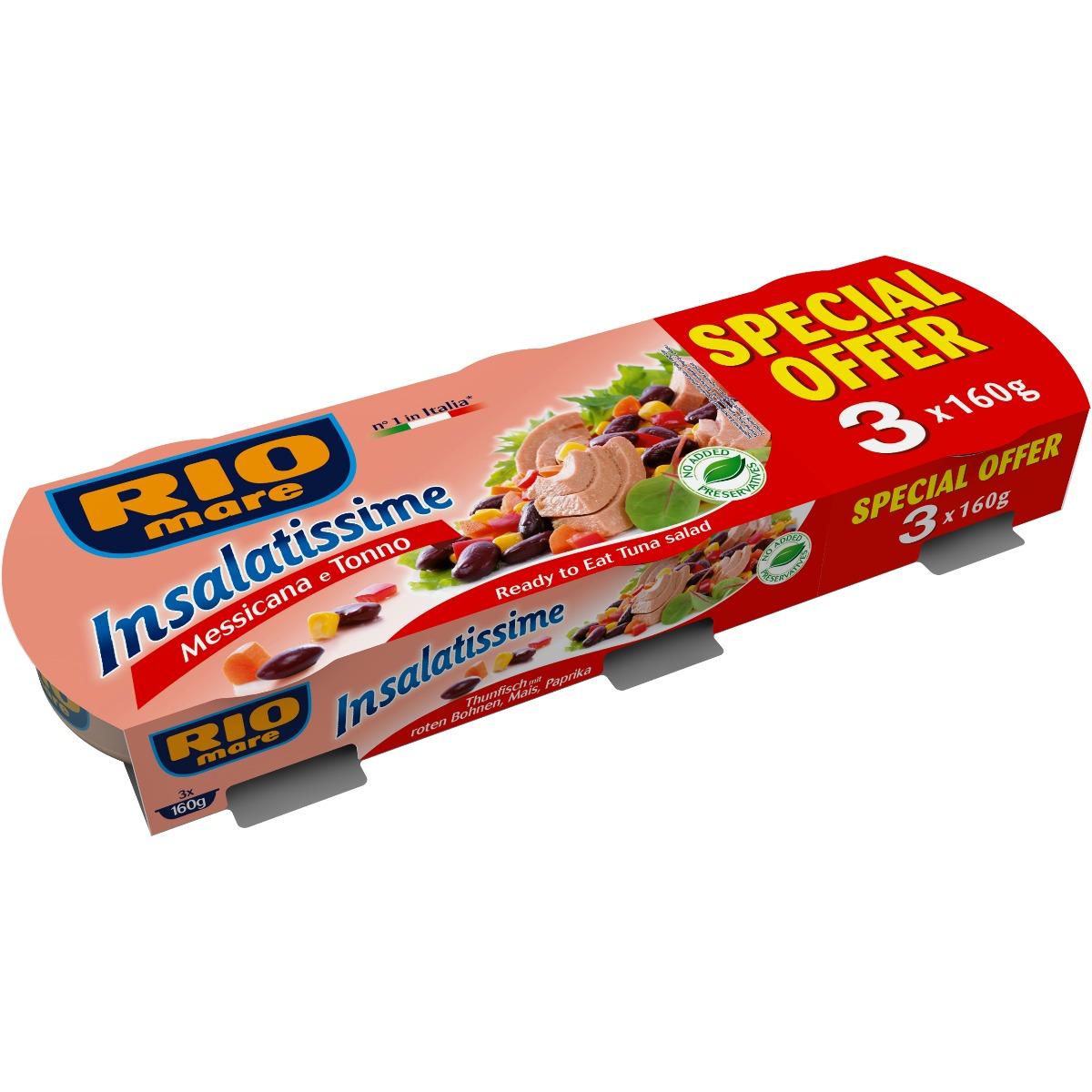 Salata mexicana cu ton Rio Mare, 3 conserve x 160 g imagine
