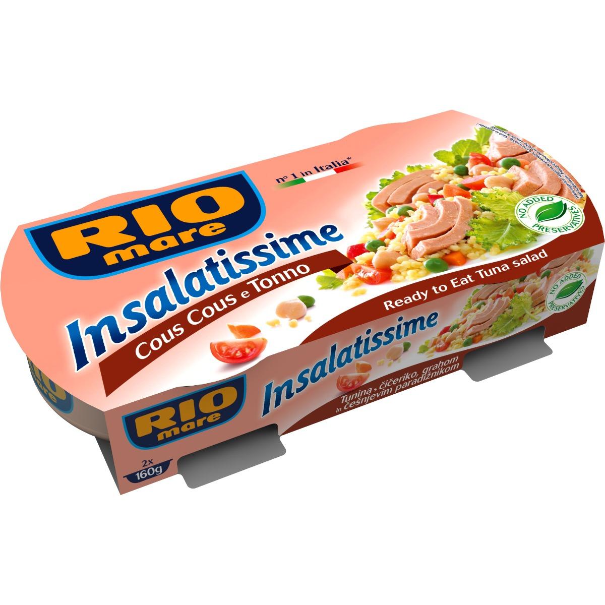 Salata de ton cu cuscus Rio Mare, 2 conserve x 160 g imagine