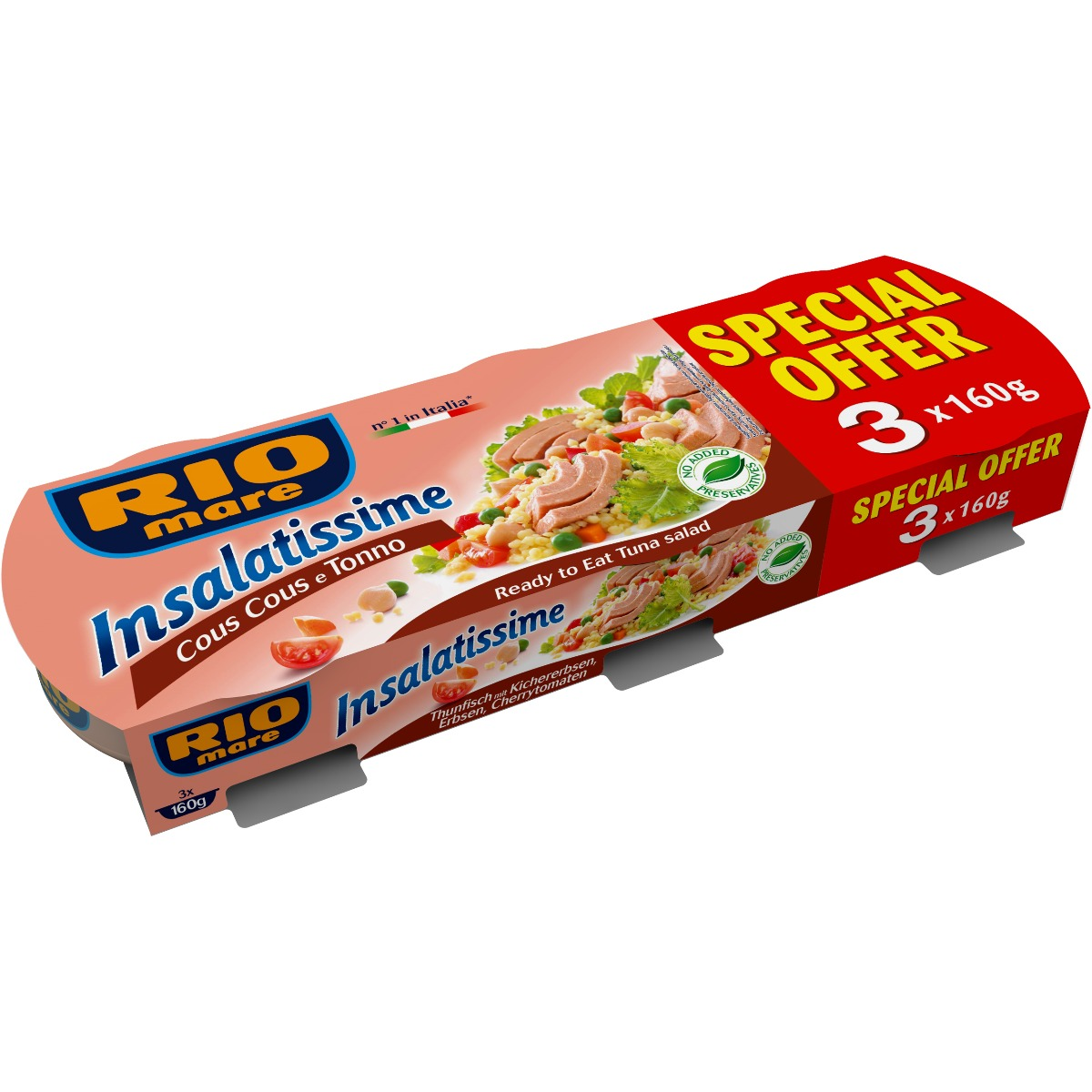 Salata de ton cu cuscus Rio Mare, 3 conserve x 160 g imagine