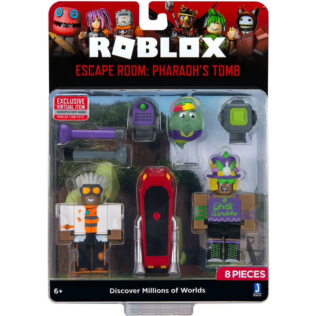 Set 2 figurine Roblox, Ghost Simulator, Escape Room Pharaoh's Tomb, S8